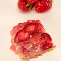 Strawberry Bars with a Lemon Poppy Seed Crust