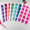 Ombre Heart Checklists