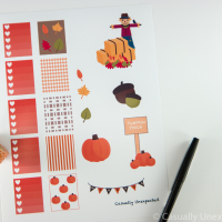 Fall Themed Printable Planner Stickers