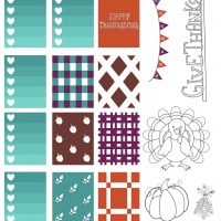 Thanksgiving Printable Planner Stickers