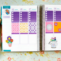 Springtime Owls Printable Planner Stickers