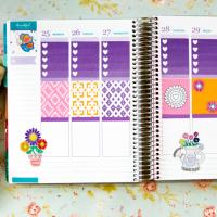 Springtime Owls Printable Planner Stickers
