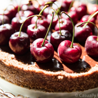 No-Bake Chocolate Cherry Tart