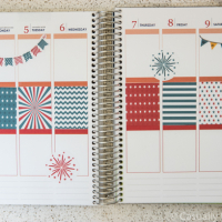 Red, White, & Blue Printable Planner Stickers